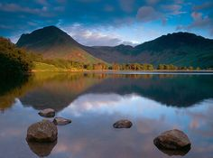 Buttermere, Cumbria.  Perhaps the most picturesque of the Lakes, Buttermere sits at the head of the Cocker Valley and is surrounded by dramatic fells, including High Stile, Fleetwith Pike and Haystacks.