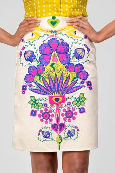 beautiful and bold embroidered skirt