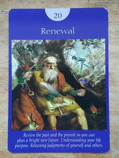 Continuing the theme of yesterday's card,  Renewal is once again telling you to review your past and see how far you've already come while you look ahead to the future.  Release any judgements about the past and start visualizing your future.  You are now on the brink of a new beginning,  so it's time to say goodbye to the old and hello to the new! #angels #fairies #tarot #guidance #newbeginnings