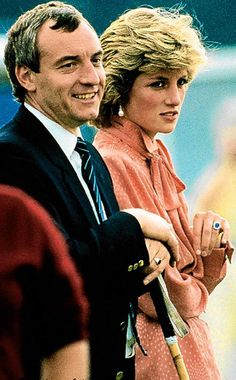 Princess Diana and bodyguard Barry Mannakee Photo (C) GETTY IMAGES
