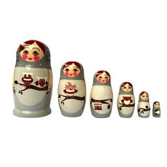 Nesting Doll Owl Gray 6Pc, $43, now featured on Fab.