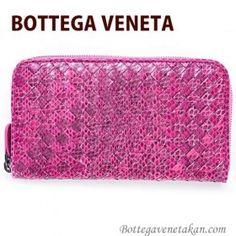 http://www.bottegaveneta-japan.com/【BOTTEGA VENETA】財布 長財布 メンズ レディース ラウンドファスナー パイソン へび柄 ピンク 114076 VT202 5601