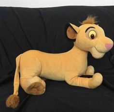 "Jumbo 20"" Large Disney Lion King Young Simba Plush Stuffed Animal Plushie EUC #Disney"