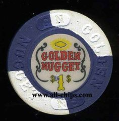 #lasVegasCasinoChip of the Day is a $1 Golden Nugget 14th issue in RARE AU condition you can get here http://www.all-chips.com/ChipDetail.php?ChipID=9596 #CasinoChip #LasVegas