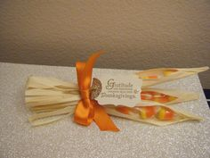 Thanksgiving candy corn favors, cute for place holders too.