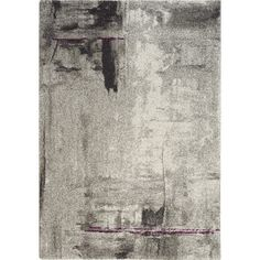 Kalora Ashbury Stroke of Abstract Gray Area Rug & Reviews | Wayfair
