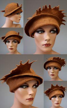 Felted hat Cinnamon queen par DosethHandmade sur Etsy