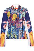 Clover Canyon  Turquoise Valley printed stretch-neoprene jacket