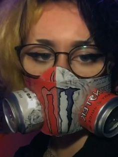 Badass Aesthetic, Aesthetic Indie, Bebidas Energéticas Monster, Monster Crafts, Monster Energy Girls, Indie Room Decor, Indie Girl, Energy Drinks, Canning