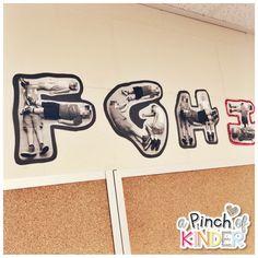 Reggio Inspired Co-Created Alphabet & Number Line - A Pinch of Kinder Kindergarten Classroom Setup, Reggio Emilia Classroom, Reggio Inspired Classrooms, Infant Classroom, Primary Classroom, Kindergarten Literacy, Classroom Design, Kindergarten Activities, September Activities