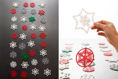 Check out this awesome 3D-printed snowflake garland.