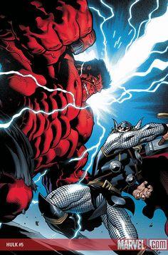 red hulk vs thor by Edd Mcguiness