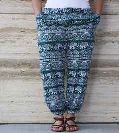 Oh so comfortable. Parachute Pants, Harem Pants, Green, Style, Fashion, Swag, Moda, Harem Trousers, Fashion Styles