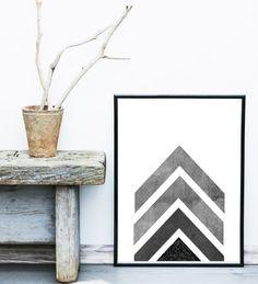 Geometric Art Geometric Wall Art Arrow Art by exileprinted on Etsy