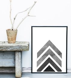 Geometric Art Geometric Wall Art Arrow Art by exileprinted on Etsy