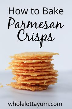 keto recipes Parmesan crisps make the best low carb and keto snack that only take 6 minutes to bake in the oven. If youre been wondering how to make parmesan crisps, its just too easy! Parmesan Chips, Parmesan Cheese Crisps, Baked Cheese, Vegan Parmesan, Low Carb Keto, Low Carb Recipes, Healthy Recipes, Appetizer Recipes, Snack Recipes
