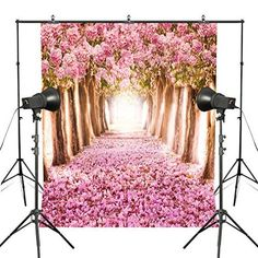 e7caf6b57c7 Fotoo 5x7ft Pink Flower Photography Backdrop Cherry Blossom Photo Background  Studio Floral Backdrop Photography Backdrops