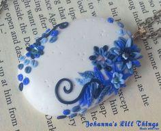 Applique polymer clay Unieke Polymeer Klei Hanger Ovaal  Spring door JohannasLillThings, €14.95