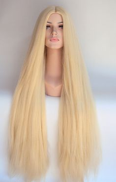 Extra Long Blonde Hippie Costume Wig #Seventies #Boho #Hair