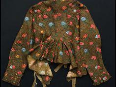 Caraco fond ramoneur ,bonnes herbes 1790 Musee de la Toile de Jouy