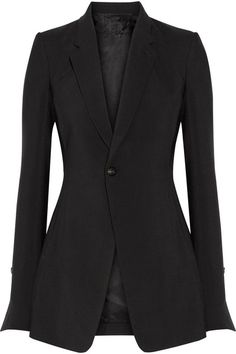 Rick Owens - Wool And Silk-blend Blazer - Black - IT