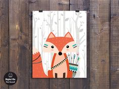 """Tribal Animals Set Printable Nursery Wall Decor Woodland Creatures Art Size 8 x 10  - INSTANT DOWNLOAD - DIGITAL FILE - PRINT IT YOURSELF - * NO PHYSICAL ITEM WILL BE SHIPPED ! *  ★★★ WHAT YOU WILL RECEIVE ★★★ 3 high resolution JPEG files and 1 print-ready PDF in the following sizes: 8 x 10"""". Once the printable is purchased and the payment is processed, you will be taken to the digital download page. Just download it, save it to your computer, and print.  ★★★ INSTANT DOWNLOAD ★★★ INSTANT…"""