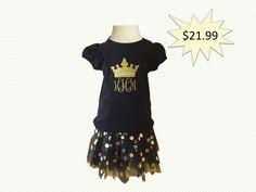 Princess Tiara T-Shirt and Black Tutu