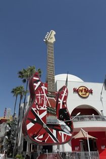 The Hard Rock Cafe inside Universal Studios, Los Angeles