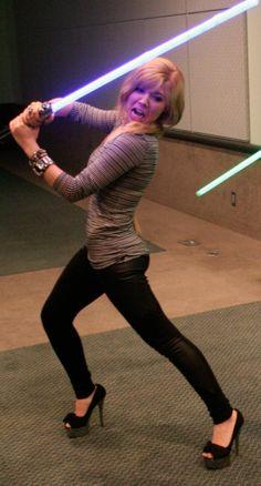 Light saber heels