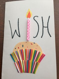 My mom's birthday card