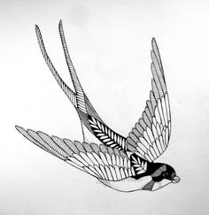 The Krumble Empire: Swallow Tattoo. Tatoo Art, Tattoo You, Body Art Tattoos, New Tattoos, Small Tattoos, Tattoos For Guys, Tatoos, Barn Swallow Tattoo, Swallow Tattoo Design