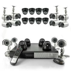 24 Camera Surveillance Set - 12 Indoor Dome Cameras, 12 Outdoor Cameras, H264 DVR, 1TB from 24/7 Surveillance Solutions for $1,283.15 on Square Market