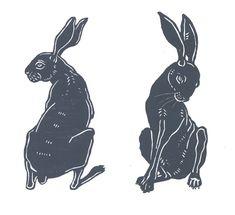 """Hare and by Jane Beharrell Bunny Tattoos, Rabbit Tattoos, Visual Map, Rabbit Art, Bunny Art, Animal Silhouette, Arte Horror, Sketchbook Inspiration, Vintage Artwork"