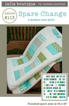 Spare Change Quilt Pattern - PDF. $7.95, via Etsy.