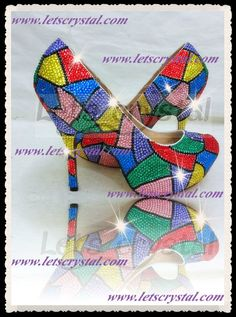 #Colorfull #multicolor custom #CrystalHandmade by linajoyce