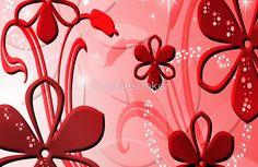 Red Petal Sparkle Design