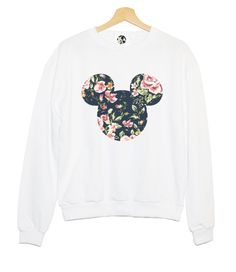 FLORAL MICKEY SWEATER <3