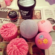 lush products!! :)