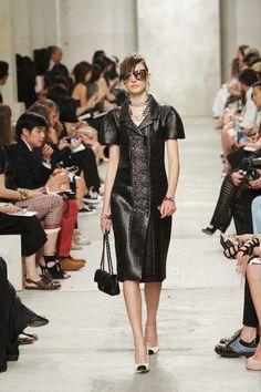 Chanel 2014 resort collection, leather coatdress.