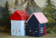 DIY Sweet Little Houses .. #KidsArt2014 kids art childrens arts and crafts with paint via:  plaidonline.com