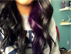 love purple...which is why I too have purple highlights in my hair...