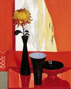 Criss Canning (b.1947) — Chrysanthemum and Japanese Fabrics (555x700)
