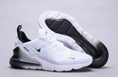Nike Air Max 270 White Black Spectrum Men's Women's Running Shoes Nike Shoes black nike sneakers for men Black Nike Sneakers, Moda Sneakers, Cute Sneakers, Best Sneakers, Black Nikes, Sneakers Fashion, Sneakers Sale, Shoes Sneakers, Fashion Boots