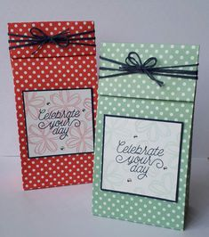 Stampin' Up! Demonstrator stampwithpeg :Spotty Dotty In Color Gift Bag – Celebrate your  day …