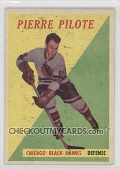 1958-59 Topps #36 - Pierre Pilote