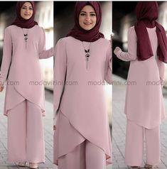 Winter Hijab Style 2019 Fashion With Fancy Abaya, hello beautiful! The winter fall is start Street Hijab Fashion, Abaya Fashion, Muslim Fashion, Boho Fashion, Fashion Dresses, Hijab Evening Dress, Hijab Dress, Hijab Outfit, Iranian Women Fashion
