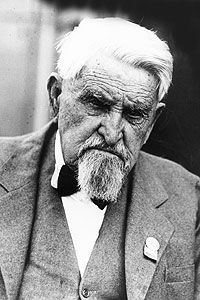Charles Goodnight (1836-1929) was a cattle rancher in the American West, perhaps the best known rancher in Texas, who drove cattle  out of Texas on the Goodnight-Loving Trail.