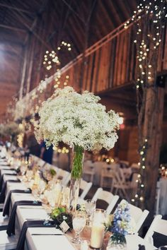 baby's breath centerpieces  //  melissa mccrotty photography by corinne