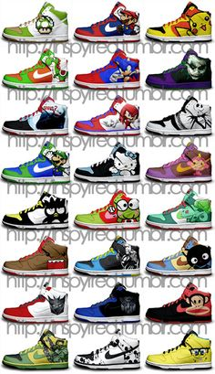 I see a pair of Autobot, Pikachu, and Domo shoes with my name all over them......