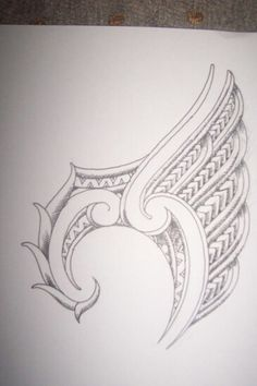 Maori winged ankle tattoo